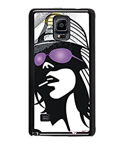 Fuson Party Girl Back Case Cover for SAMSUNG GALAXY NOTE 4 - D3725