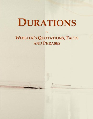 Durations: Webster's Quotations, Facts and Phrases PDF