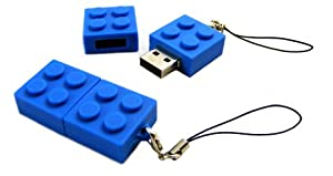 4GB USB Novelty Flash Drive Memory Stick Blue Building Block Brick from CyberloxShop