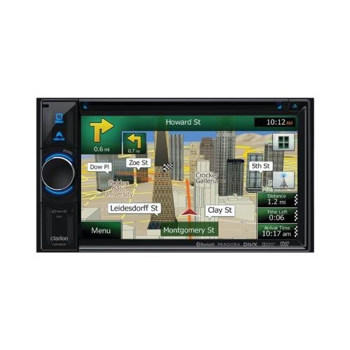 Clarion Nx404 6.2 Double-Din Dvd Multimedia Station With Built-In Navigation Touchscreen Control & Bluetooth(R) (Clarion Nx404)