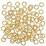 4mm 21 Gauge Open Jump Rings 22K Gold Plated (100)