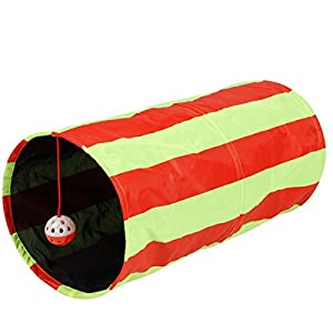 Collapsible Cat Tunnel Toys (2-Pack) - Pet Tunnels and Tubes With Crinkle Peep Hole Design for Small Medium & Large Cats Dogs and Other Small House Animals by Pet Magasin