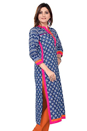 ALC-Creations-Blue-Printed-Cotton-Kurti