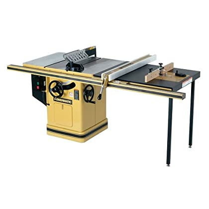 Get Powermatic 1660805K Model 66 10-Inch Left Tilt 5 Horsepower Table Saw with 50-Inch Accu-Fence, Router Lift, 2...