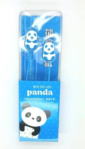 "Keeka ""Lovely Panda"" Lovely Cartoon Color Stereo Headphones - Blue (Pd-100-1)"