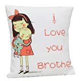 Giftsbymeeta Love You Brother Cushion On Rakhi RAKHIGIFTS8124