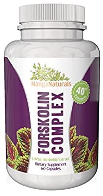 Forskolin complex 40% standardization-300mg per serving- natural appetite suppressant, carb blocker, diuretic and weight loss supplement for burning fat and melting belly fat-premium potency men&women