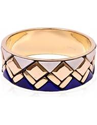 Trendy Baubles Blue, White & Gold Bangle For Women