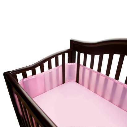 mesh crib liner color pink by breathablebaby by