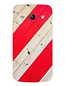Stripped Red - Pattern - Designer Printed Hard Back Shell Case Cover for Samsung Core Plus Superior Matte Finish Samsung Core Plus Cover Case