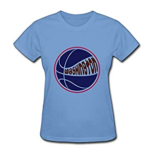 Design Women T Shirt Washington Basketball T-Shirt Short Sleeve Sky Medium