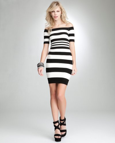 Bebe Striped Dress Zilnasa Waker
