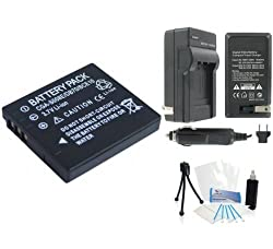 DMW-BCE10 High-Capacity Replacement Battery with Rapid Travel Charger for Select Panasonic Digital Cameras ' - UltraPro Bundle Includes: Camera Cleaning Kit, Screen Protector, Mini Travel Tripod