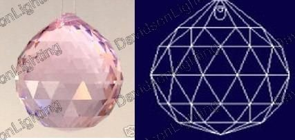 30mm Pink Crystal Ball Prisms #1701-30