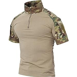 TACVASEN メンズ アンダー tシャツ ランニング tシャツ 半袖 ジョギング Tシャツ 伸縮性 自衛隊迷彩 ジュニア CP S