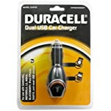 Duracell Dual USB Car Charger for use with most USB devices