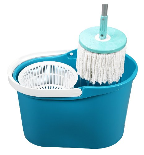 Best Spin Mop (No Steps Needed). 2015 Model of the Original & Patented Spin & Go Pro Mop – 360 Degree Spinning Mop & Bucket w/ Spin Cycle Technology (No Steps Needed). Authentic & Patented Build w/ Highest Quality (Made in Taiwan, Not China). As Seen on TV (QVC)