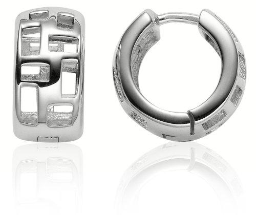 Zina Sterling Silver Windows Snap Hoop Earrings