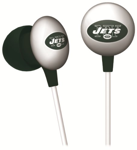 iHip NFF10200NYJ NFL New York Jets Mini Ear Buds, Green/White at Amazon.com