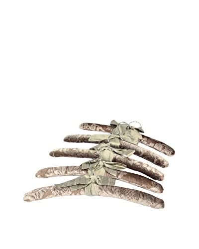 Aviva Stanoff Set of 5 Velvet Hangers, Cobble Sinclair