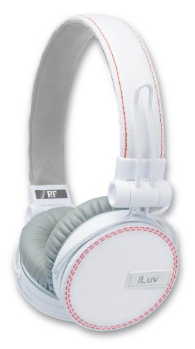 Iluv Ref, Deep Bass On-Ear Headphones With Canvas Fabric Exterior For Smartphones - White