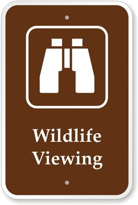 """Wildlife Viewing (With Graphic) Sign, 18"""" X 12"""" front-976697"""