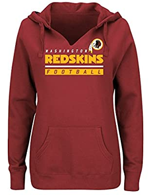 "Washington Redskins Women's Majestic NFL ""Determination"" Hooded Sweatshirt"