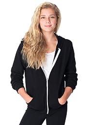 American Apparel Youth Flex Fleece Zip Hoodie - Black / 8 Years