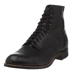 Stacy Adams Men\'s Madison Cap Toe Boot,Black,10.5 EE