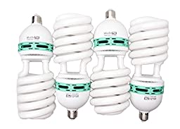 StudioPRO 4x 105W Bulb Full Spectrum CFL Photo Video Light, 5500K Daylight, 4 Pack