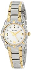 Bulova Womens 98R170 Diamond-Accented Stainless Steel Watch