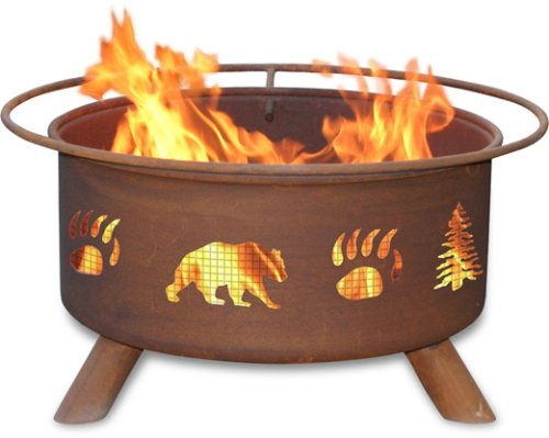 Patina-Products-F107-30-Inch-Bear-Trees-Fire-Pit