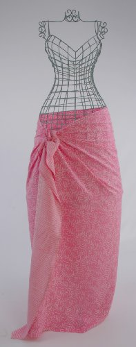 Baby Pink Bracken Leaves Batik Sarong