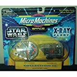 Star Wars 1995 Micro Machines X-Ray Fleet Millennium Falcon & Sandcrawler
