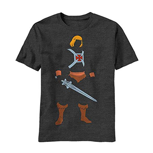 Masters of the Universe Mini He-Man Adult T-shirt - Charcoal or Gray - S to XXL