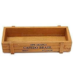 Vintage Wooden Boxes Crates Flower Pot Trug Kitchen Trinket Desktop Storage Case