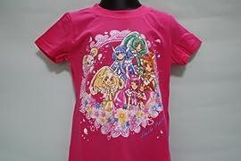 スマイルプリキュア TPETS・Tシャツ・花びらがふわり・ピンク(バンダイ)120CM