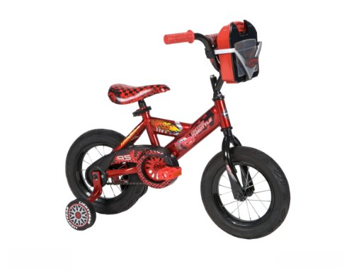 Huffy Boy's Disney Cars Bike, Racing Red/Piston Black, 12-Inch