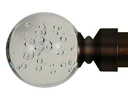 Home Decor Int\'l HDI Blown Glass Ball Finials, Oil Rubbed Bronze, Set of 2