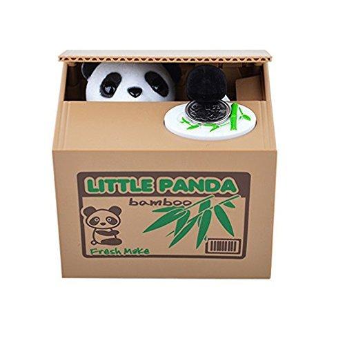 HuaYang salvadanaio ad animale (Panda),box portamonete con custodia