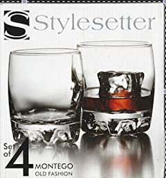 Style Setter Montego Old Fashion Glasses, Set of 4 by Style Setter