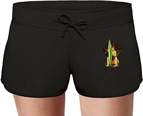 Summer Is Coming Sweat Shorts Estivi per Donne Summer Sweat Shorts For Women & Ladies   80% Cotton-20%Polyester  DTG Printing  Unique & Custom Medium
