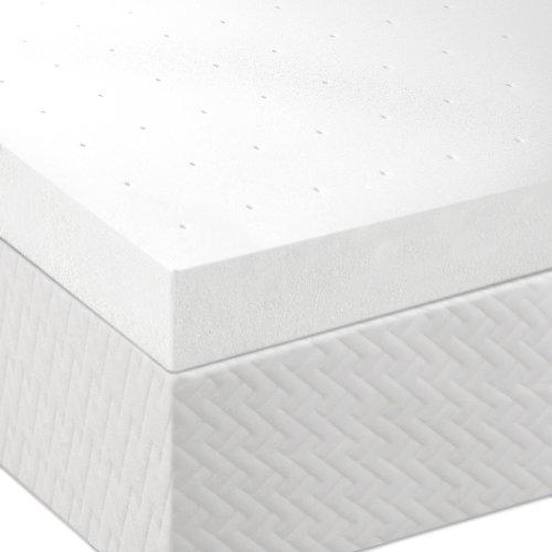 Lucid 3 Inch Memory Foam Mattress Topper 3-Year Warranty - Queen