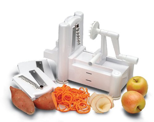 Black Friday 2013 Paderno World Cuisine A4982799 Tri-Blade Plastic Spiral Vegetable Slicer