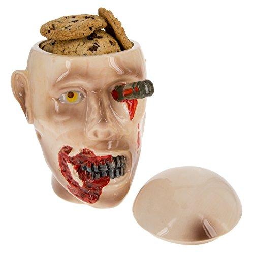 The Walking Dead Ceramic Cookie Jar - Zombie Walker Head Design