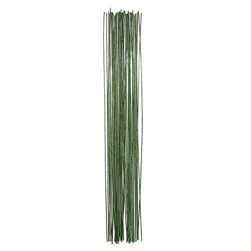 eBoot Pack of 100 Stem Wire 26 Gauge 14 Inch , Dark Green (Floral Wire compare prices)