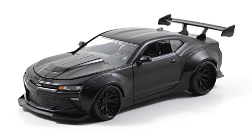 Jada 1/24 Scale 2016 Chevy Camaro SS Wide Body With GT Wing Black 98139 (1 24 Diecast Cars Camaro compare prices)