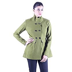 Olive Double breasted wool jacket 5