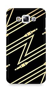 Amez designer printed 3d premium high quality back case cover for Samsung Galaxy E7 (Abstract Cable)