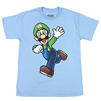 Super Mario Brothers Luigi Boys T Shirt (10/12)
